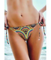 Psychedelic Brazilian bikini bottom - CALCINHA ZUMA BEACH