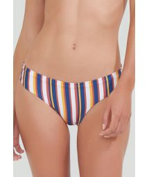 Brazilian bikini bottom in vertical colorful stripes - BOTTOM BAND LAND STRIPES