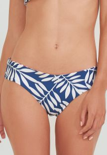 Reversible red / blue Brazilian bikini bottom in foliage print - BOTTOM BAND TERRA JUNGLE