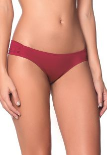 Dark red fixed scrunch bikini botom - BOTTOM BOLD BASICS - UVT AMERICAN