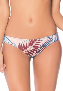 Reversible printed fixed bikini bottom - BOTTOM NAVY GUACAS AMERICAN