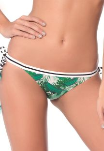 Bikinihose in Mustermix, Tropenprint/Streifen - BOTTOM POLKA JUNGLE LATIN