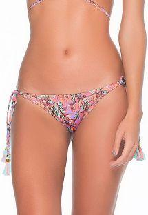 Brasilianske bikinitrusser med farvestrålende mønster og frynsede pomponer - CALCINHA SILVANA