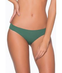 Textured green fixed scrunch Brazilian bottom - CALCINHA TRENDY VERDE