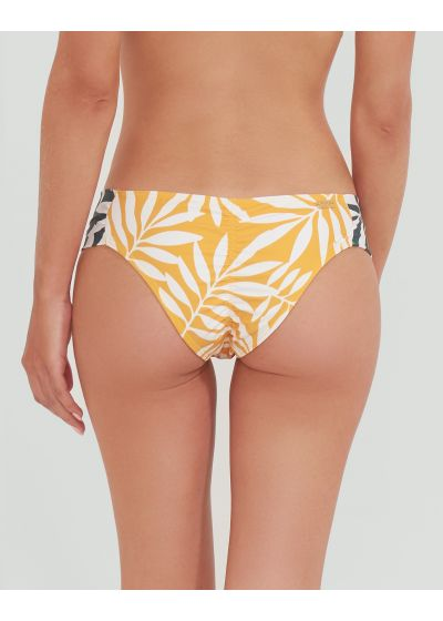 Yellow Brazilian bikini bottom with green sides - BOTTOM MANGO JUNGLE VERDE AMARELO