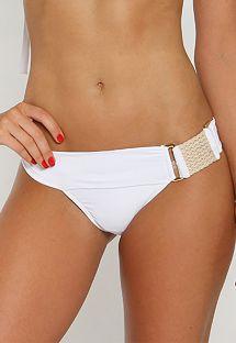 Braguita de bikini blanco con cinturón original - CALCINHA ELEGANCY WHITE