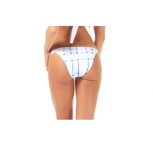 Two-tone checker print bikini bottom - CALCINHA METAL