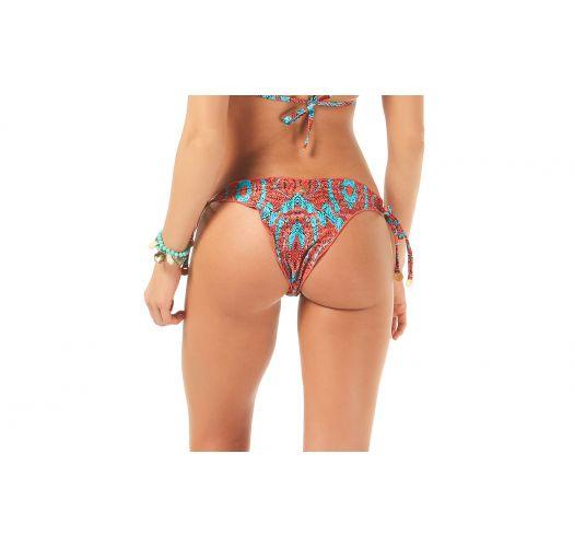 Two-tone print Brazilian bottom with wavy edges - CALCINHA OUTONO