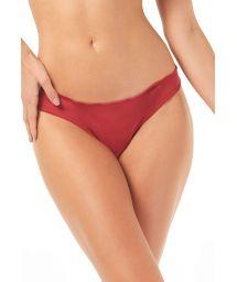 Red Brazilian scrunch bottom with wavy edges - CALCINHA PETECA