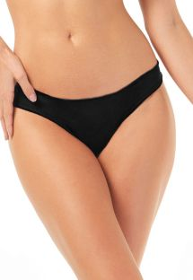 Fixed black scrunch bikini bottom - CALCINHA PETECA BLACK