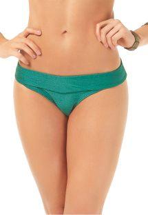 Fixed textured green Brazilian bottom - CALCINHA TROPICANA