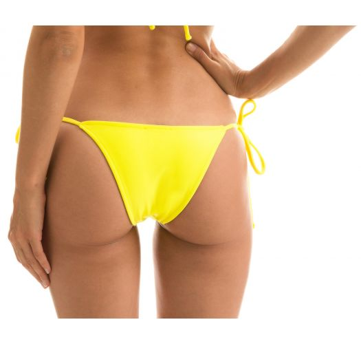 Lemon yellow side-tie bikini bottom - BOTTOM BEACH STREGA ROLOTE