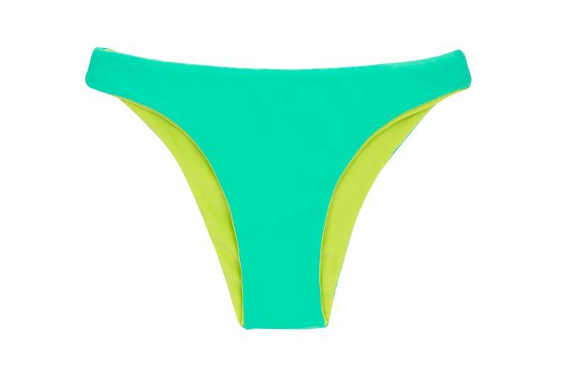 Reversible green / yellow fixed bikini bottom - BOTTOM ACQUA FLORA DUO