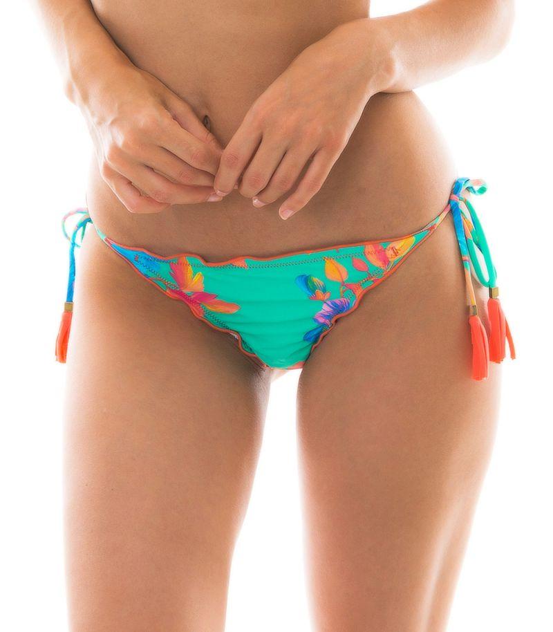 Pastel blue string bikini bottom - BOTTOM ACQUA FLORA MICRO