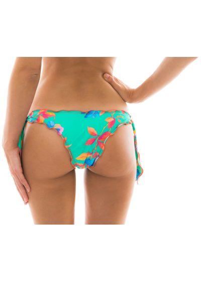 Side-tie turquoise bikini bottom - BOTTOM ACQUA FLORA OFF SHOULDER