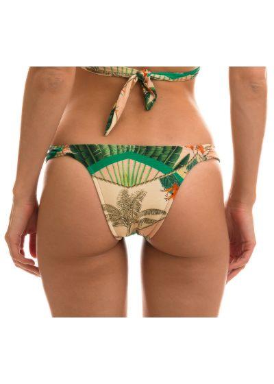 BBS X RIO DE SOL -  Fixed plant print Brazilian bikini bottoms - BOTTOM ALPINIA TRANSPASSADO