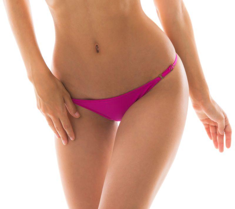 Side-adjustable pink fuchsia bikini bottom - BOTTOM AMARANTO ARG FIXO