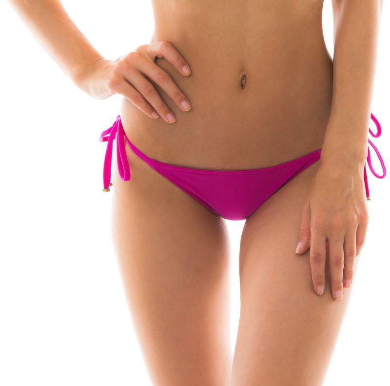 Pink fuchsia side-tie bikini bottom - BOTTOM AMARANTO LACINHO