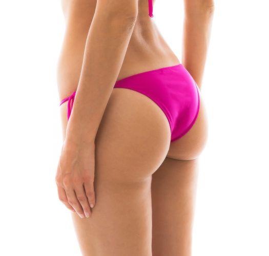 Fuchsienfarbene Bikinihose mit Seitenschnüren - BOTTOM AMARANTO LACINHO