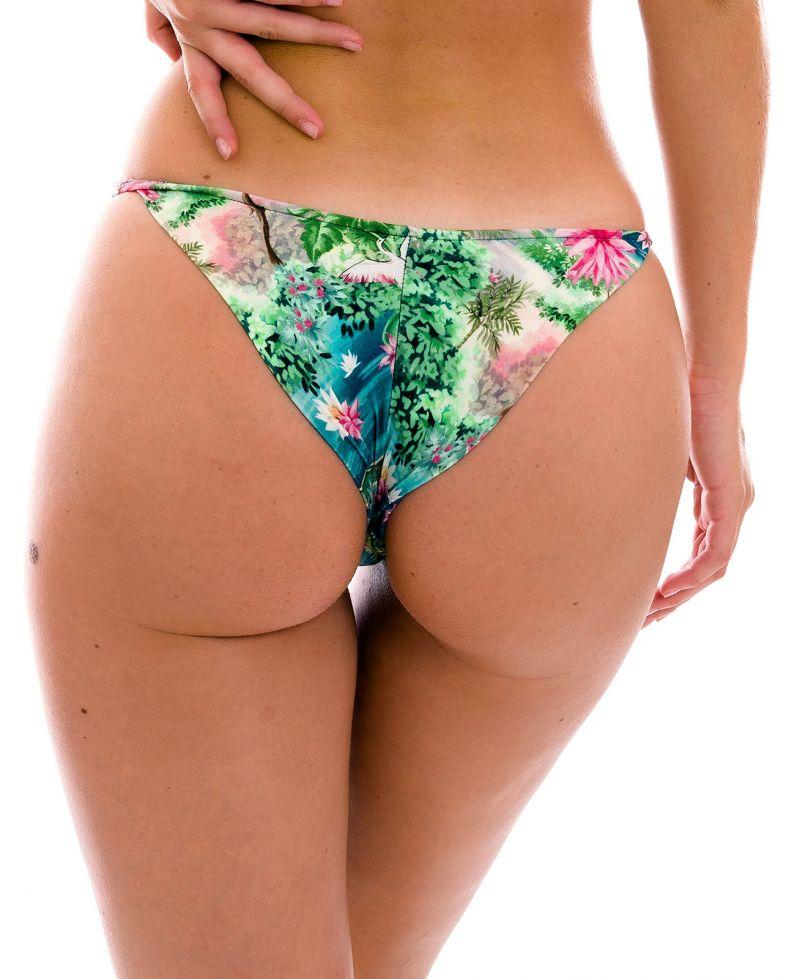 Green tropical cheeky Brazilian bikini bottom - BOTTOM AMAZONIA CHEEKY-FIXA