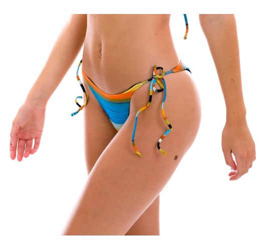 Brazilian bikini bottom with colorful stripes - BOTTOM ARTSY IBIZA