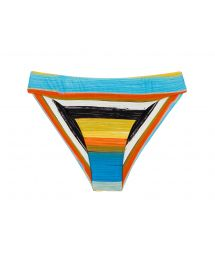 Brazilian fixed scrunch bikini bottom with colorful stripes - BOTTOM ARTSY NICE