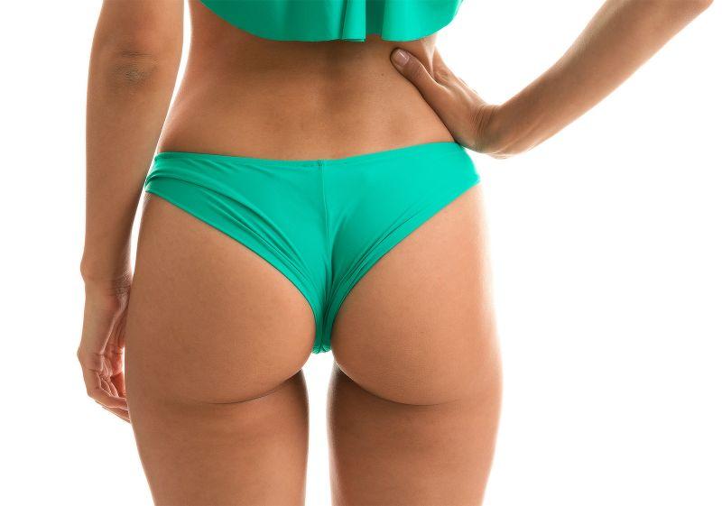 Green fixed cheeky bikini bottom - BOTTOM BAHAMAS BABADO