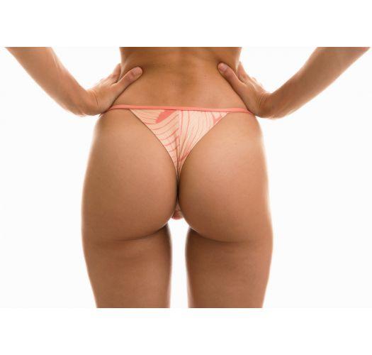 Pale pink rose adjustable string bikini bottom - BOTTOM BANANA ROSE MICRO