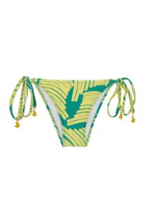 Green/yellow side-tie bikini bottom - BOTTOM BANANA YELLOW INVISIBLE