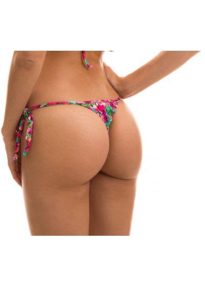 Colorful floral print bikini bottom - BOTTOM BEACH FLOWER MICRO
