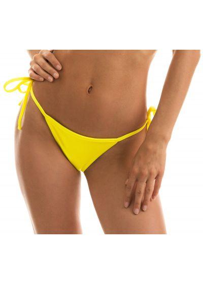 Lemon yellow side-tie string bikini bottom - BOTTOM BEACH STREGA MICRO