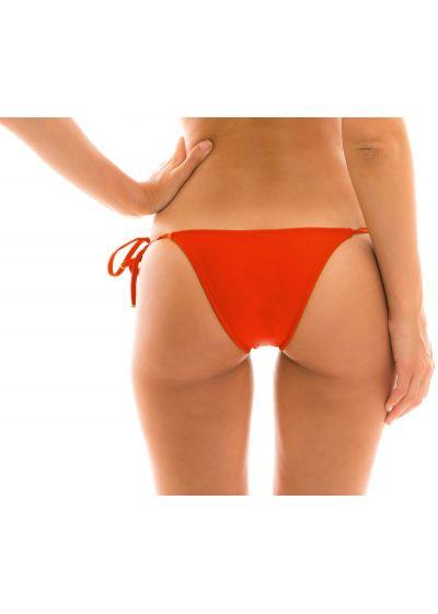 Red side-tie Brazilian bikini bottom - BOTTOM BEIJO LACINHO