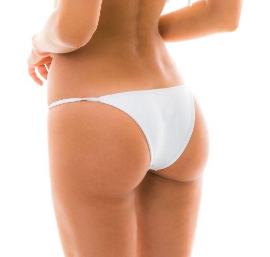 White side-adjustable Brazilian bikini bottom - BOTTOM BRANCO ARG FIXO