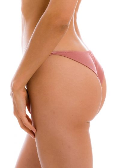 Nude rose cheeky Brazilian bikini bottom with slim sides - BOTTOM CALLAS CHEEKY-FIXA