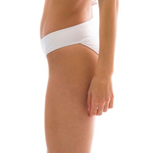 White fixed bikini bottom with a waistband - BOTTOM CLOQUE BRANCO COS COMFORT