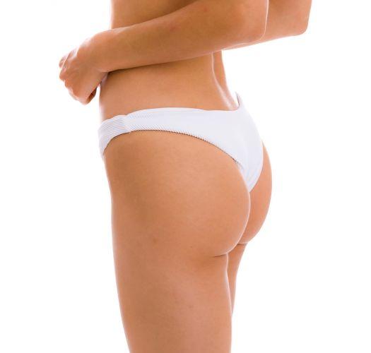 Weiße geriffelte feste High-Leg-Bikinihose - BOTTOM COTELE-BRANCO LISBOA