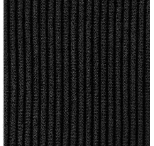 黒いリブ編みビキニボトム - BOTTOM COTELE-PRETO COMFY