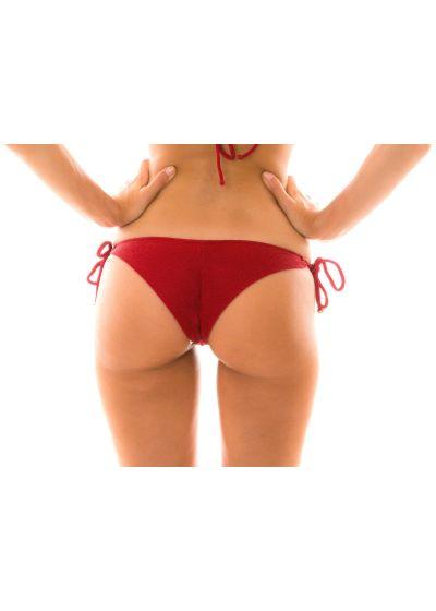 Karmosinröd textureradbrasiliansk nederdel med accessoarer - BOTTOM DUNA TRI DIVINO