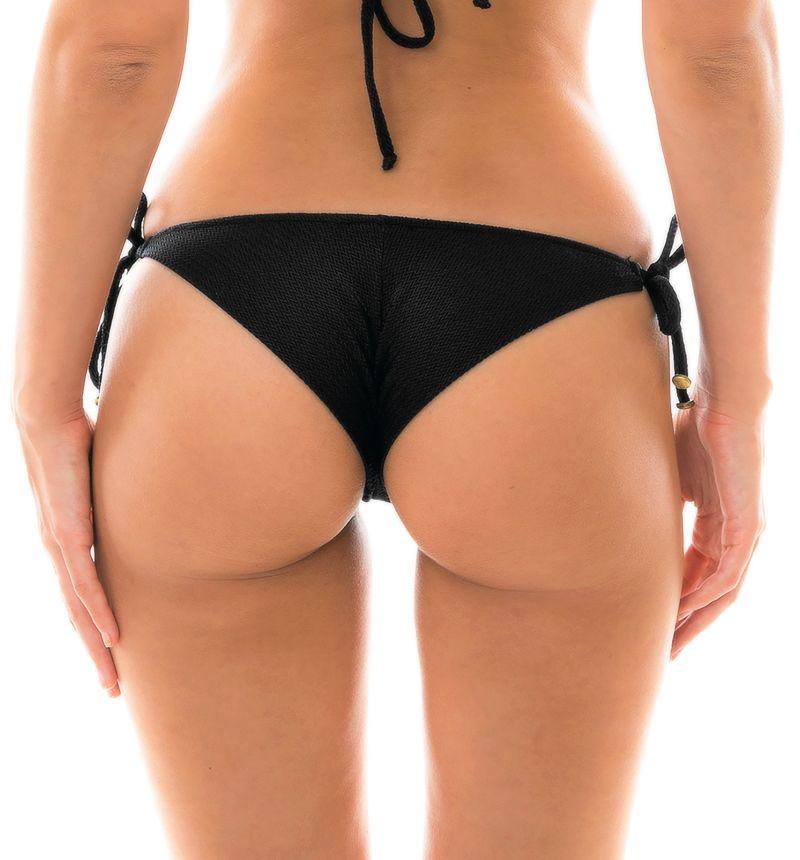Svart textureradbrasiliansk nederdel med accessoarer - BOTTOM DUNA TRI PRETO