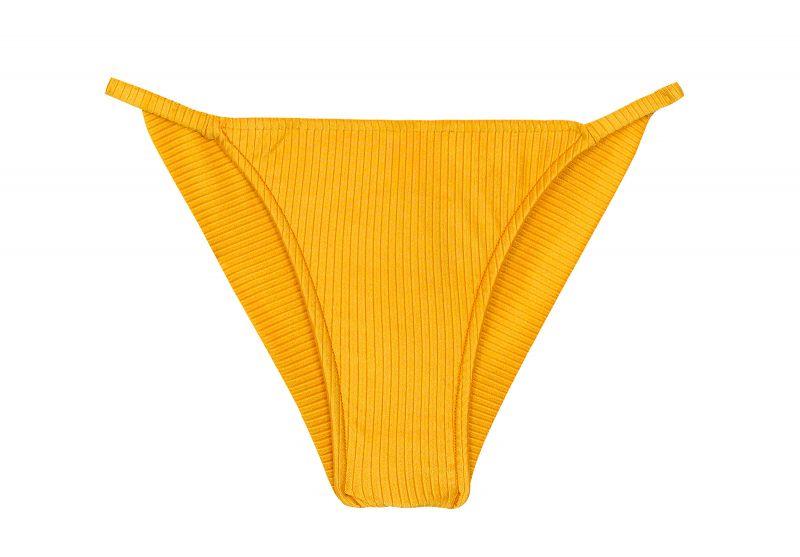 Textured yellow cheeky bikini bottom with thin sides - BOTTOM EDEN-PEQUI CHEEKY-FIXA