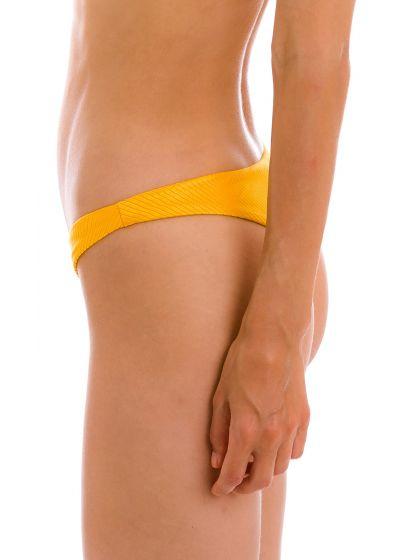Textured yellow high leg bikini bottom - BOTTOM EDEN-PEQUI HIGH-LEG