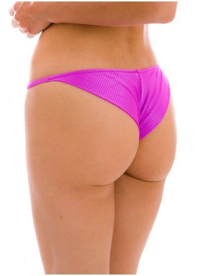 Textured pink magenta cheeky bikini bottom with thin sides - BOTTOM EDEN-PINK CHEEKY-FIXA