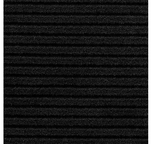 Textured black fixed side-tie bikini bottom - BOTTOM EDEN-PRETO IBIZA