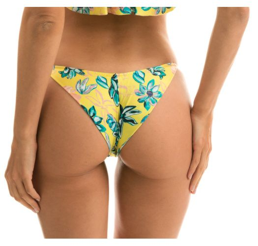 Geblümte verstellbare Scrunch-Bikinihose - BOTTOM FLORESCER BABADO