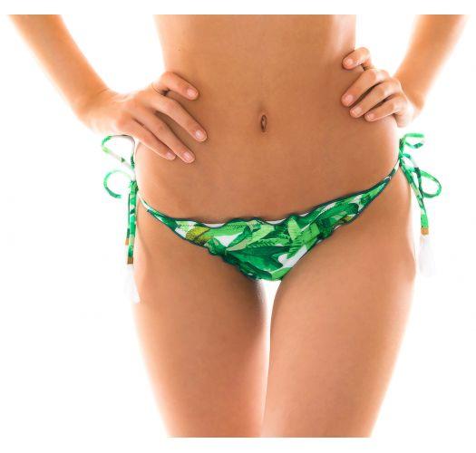 Leaves print scrunch bikini bottom - BOTTOM FOLHAGEM FRUFRU