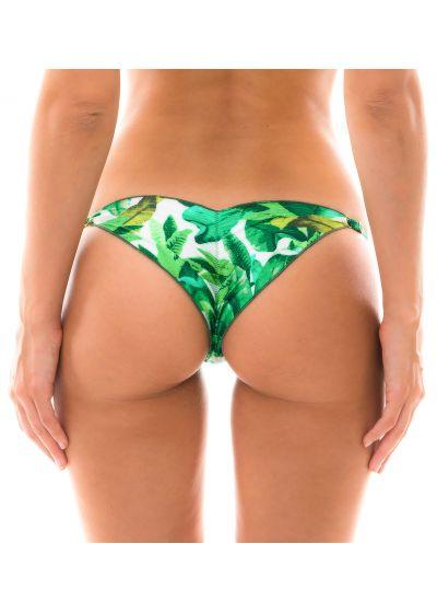 Green high leg bikini bottom - BOTTOM FOLHAGEM LAÇO