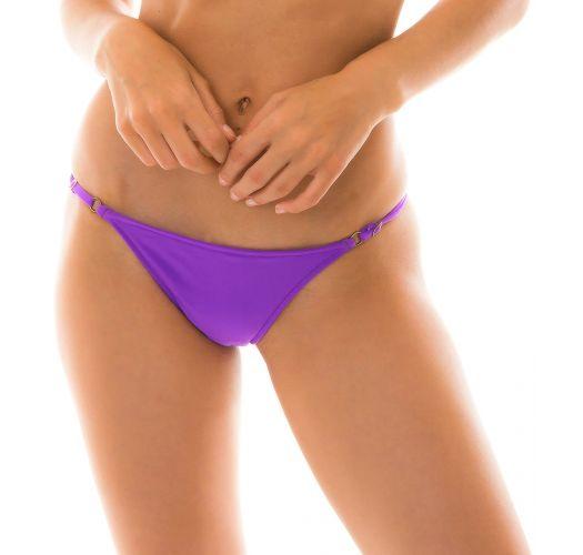 Purple side-tie Brazilian bikini bottom - BOTTOM FUCHSIA LACINHO