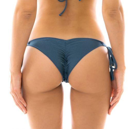 Skrumpet blå tanga med blondekanter - BOTTOM GALAXIA FRUFRU