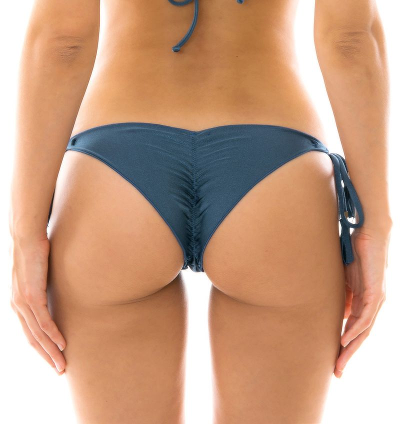 Steel blue side-tie crunch bikini bottom - BOTTOM GALAXIA FRUFRU