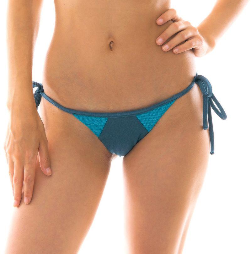 Blue tones textured side-tie bikini bottom - BOTTOM GALAXIA RECORTE TRI